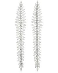 Apm Monaco - Silver Palme Long Earrings - Lyst
