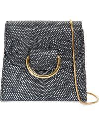 Little Liffner - Tiny Box Embossed Leather Shoulder Bag - Lyst