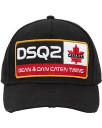 DSquared² - Embroidered Patch Cotton Canvas Hat - Lyst