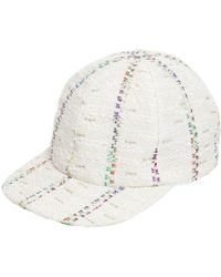 Maison Michel - Hailey Striped Tweed Baseball Cap - Lyst