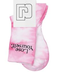 Paco Rabanne Tie&dye Cotton Tennis Socks - Pink