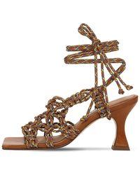 Miista 80mm Stephanie Woven Sandals - Multicolour