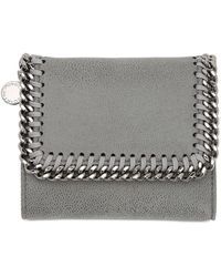 Stella McCartney Falabella Shaggy Faux Leather Wallet - Серый