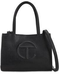 Telfar Small Embossed Logo Shopper Tote Bag - Black