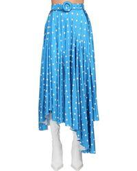 Balenciaga Midirock Mit Punktdruck - Blau