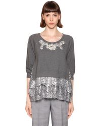 Antonio Marras - Metallic Lace & Embellished Sweatshirt - Lyst