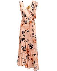 Marni Asymmetric Floral Print Flared Dress - Multicolour