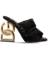 Dolce & Gabbana 90's Logo パデッドナイロンミュール 75mm - ブラック