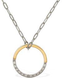 Maison Margiela Bicolor Ring Charm Long Necklace - Metallic