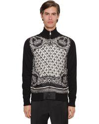 Dolce & Gabbana ジップアップカシミア&シルクカーディガン - ブラック