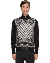 Dolce & Gabbana Zip-up Cashmere & Silk Cardigan - Black