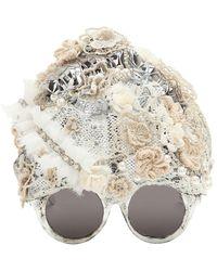 Kuboraum Embellished Skullcap Sunglasses - Multicolor