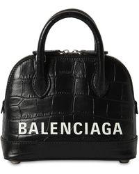 """Balenciaga Tasche Aus Geprägtem Leder """"xxs Ville"""" - Schwarz"""
