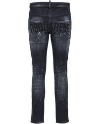 DSquared² 16.5cm Skater Stretch Denim Jeans - Black