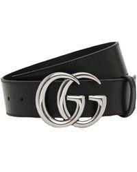 """Gucci Кожаный Ремень """"gg Marmont"""" 4cm - Черный"""