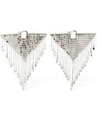 Etro Geometric Mesh Fringe Earrings - Metallic