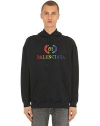 Balenciaga Hoodie Aus Fleece Mit Logo
