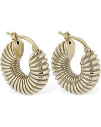 Jil Sander Snail Hoop Earrings - Metallic