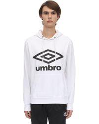 Umbro Hoodie Aus Baumwollmischfleece Mit Logo - Weiß