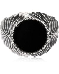 Emanuele Bicocchi - Ring Aus Silber Mit Onyx - Lyst