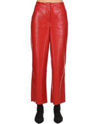 Nanushka - Faux Leather Pants - Lyst