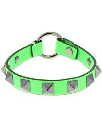 Valentino Garavani 1cm Rockstud Leather Bracelet - Green