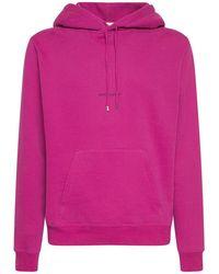 Saint Laurent Kapuzensweatshirt Aus Baumwolle Mit Logo - Pink