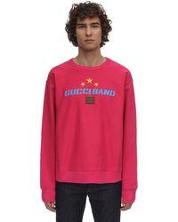 Gucci Sweatshirt Aus Baumwolljersey Mit Logo - Pink