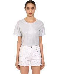 Alexandre Vauthier Crystal Embellished Jersey T-shirt - White