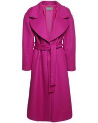 Alberta Ferretti Длинное Пальто Из Шерсти С Поясом - Многоцветный