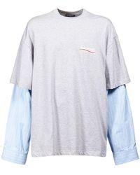 Balenciaga Political コットンtシャツ - マルチカラー