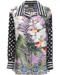 Dolce & Gabbana シルクツイルシャツ - マルチカラー