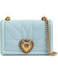 Dolce & Gabbana Кожаная Сумка Mini Devotion - Синий