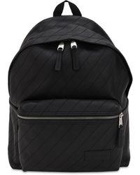 Eastpak 24l Pak'r Quilted Leather Backpack - Black