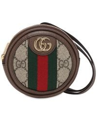 Gucci Монетница Ophidia Gg Supreme - Коричневый