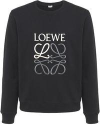 Loewe Anagram コットンスウェットシャツ - ブラック