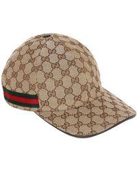 """Gucci Casquette """"Gg Supreme"""" En Toile Avec Logo - Neutre"""