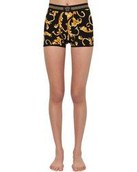 Versace - Shorts De Jersey Stretch Estampado - Lyst