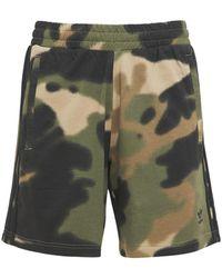 adidas Originals Camo 3 Stripes Cotton Sweat Shorts - Green
