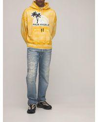 Palm Angels Jersey-hoodie, Lvr Exclusive - Gelb