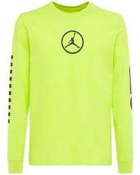 "Nike Baumwoll-t-shirt ""jordan Sport Dna"" - Grün"