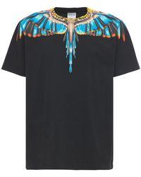 Marcelo Burlon T-shirt En Jersey Imprimé Grizzli - Noir