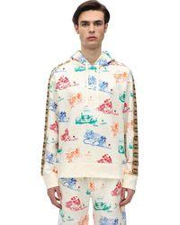 Gucci Свитшот Из Хлопка С Капюшоном - Белый