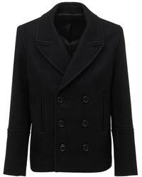 AMI Пальто Из Шерстяного Фетра - Черный
