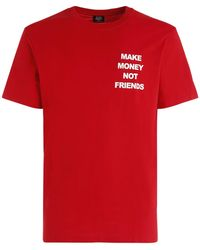 MAKE MONEY NOT FRIENDS - T-shirt Aus Baumwolljersey Mit Logodruck - Lyst