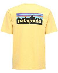 Patagonia P-6 Logo Responsibili-tee T-shirt - Yellow