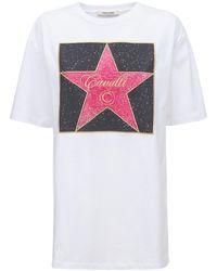 Roberto Cavalli コットンジャージーtシャツ - マルチカラー