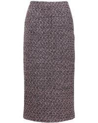 Alessandra Rich スパンコールツイードスカート - マルチカラー