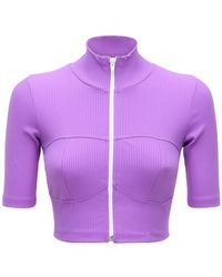 Year Of Ours Active Rib Off Roading Top - Purple