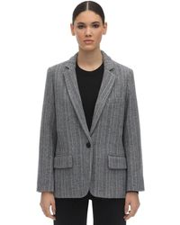 Étoile Isabel Marant Charly Wool Blend Jacket - Gray